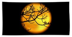 Moon In The Trees Beach Towel