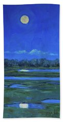 Moon Light And Mud Puddles Beach Sheet by Billie Colson