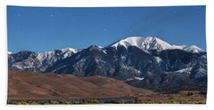 Moon Lit Colorado Great Sand Dunes Starry Night  Beach Towel by James BO Insogna