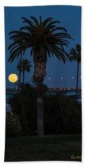 Moon On The Rise Beach Towel
