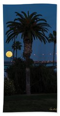 Moon On The Rise Beach Towel