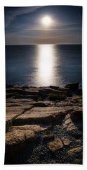 Moon Over Acadia Shores Beach Sheet