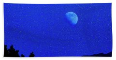 Moon Over Black Mesa II Beach Towel