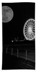 Moon Over Ferris Wheel Beach Towel