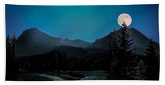 Moon Over Field Bc Beach Sheet