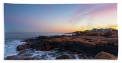 Moon Over Gloucester Sunset Beach Towel