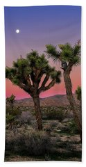 Moon Over Joshua Tree Beach Towel