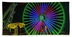 Moon Over The Ferris Wheel Beach Towel