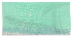 Moon Over The Sea Beach Towel