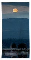 Moon Over The Spit Beach Towel
