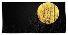 Moon Over The Trees Beach Sheet
