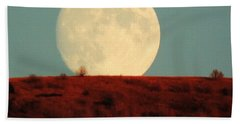 Moon Over Utah Beach Towel
