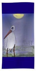 Moon Rise Becomes A Stork Beach Sheet
