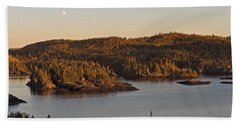 Moon Rise Over Pukaskwa Beach Towel