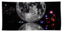 Beach Towel featuring the photograph Moon River by Naomi Burgess