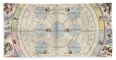 Moon With Epicycles Harmonia Beach Towel