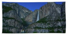 Moonbow Yosemite Falls Beach Towel