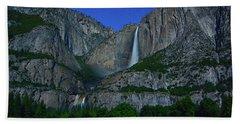 Moonbow Yosemite Falls Beach Towel by Raymond Salani III