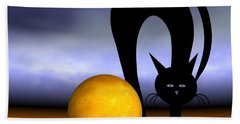 Mooncat's Play With The Fullmoon Beach Towel