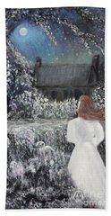 Moonlight Garden Beach Sheet by Lyric Lucas