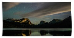 Moonlight On Green River Lake Beach Towel