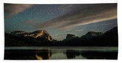 Moonlight On Green River Lake Beach Sheet