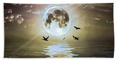 Moonlight On Water Beach Towel
