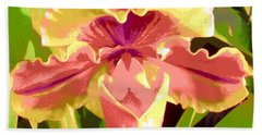 Moonlight Orchid Beach Towel