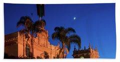 Moonlight Over Balboa Beach Towel