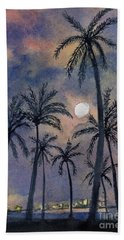 Moonlight Over Key West Beach Towel