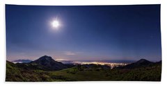 Moonlight Panorama Beach Towel