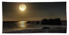 Moonlight Reflection  Beach Towel