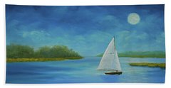 Moonlight Sail Beach Sheet