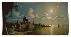 Moonlight Scene Beach Towel