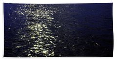 Moonlight Sparkles On The Sea Beach Towel