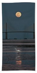 Moonlight Stroll Beach Towel