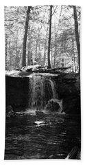 Moonlight Waterfall Beach Towel