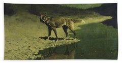 Moonlight, Wolf Beach Towel