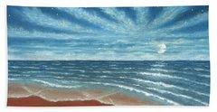 Moonlit Beach Beach Sheet