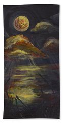 Moonlit Beach Guam Beach Towel