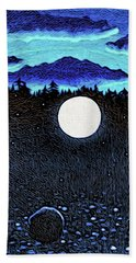Moonlit Beach Beach Towel