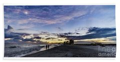Moonlit Beach Sunset Seascape 0272b1 Beach Towel