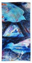 Moonlit Birds Beach Towel by Denise Hoag