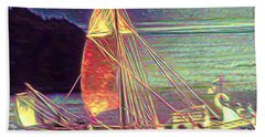 Moonlit Corbita I Beach Towel