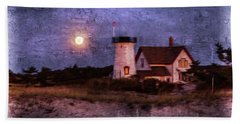 Moonlit Harbor Beach Towel