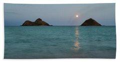 Moonrise At Lanikai Beach Towel