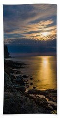 Moonrise From The Cloudbank Beach Towel