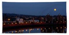 Moonrise In Belfast Beach Towel