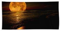 Moonrise Beach Sheet by James C Thomas