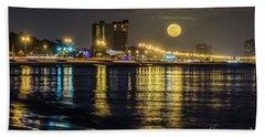 Moonrise Over Biloxi Beach Sheet
